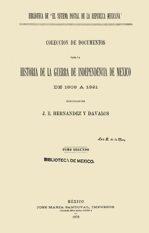 Imagen de Colección de documentos para la historia de la guerra de independencia de México de 1808-a 1821. Tomo 2