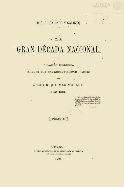 Imagen de La gran década nacional, relación histórica de la Guerra de Reforma: tomo I