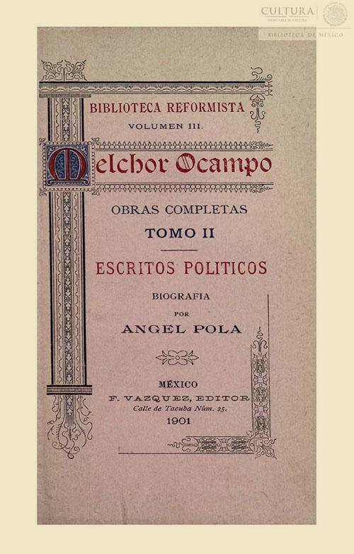 Imagen de Obras completas Melchor Ocampo. Tomo 2