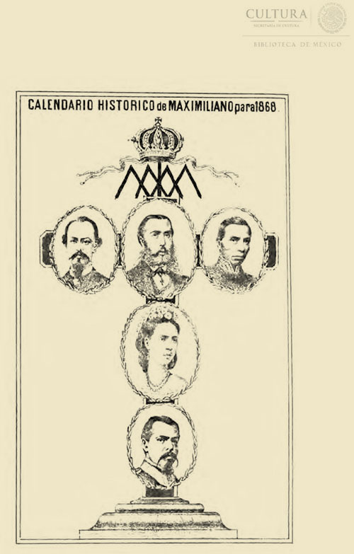 Imagen de Calendario histórico de Maximiliano para 1868