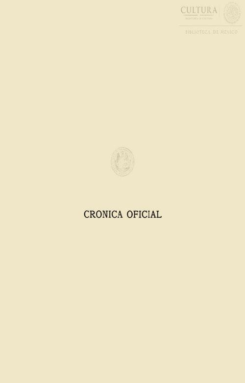 Imagen de Crónica oficial de las fiestas del primer centenario de la Independencia de México