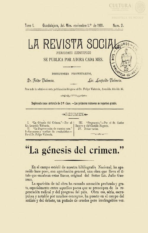 Imagen de La revista social: períodico científico / dir. Felipe Valencia, Leopoldo Valencia