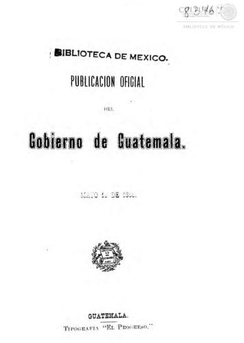 Imagen de Publicacion Oficial del Gobierno De Guatemala