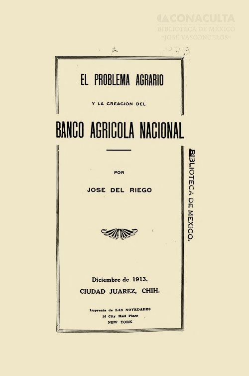 Imagen de El problema agrario y la creación del Banco Agrícola Nacional