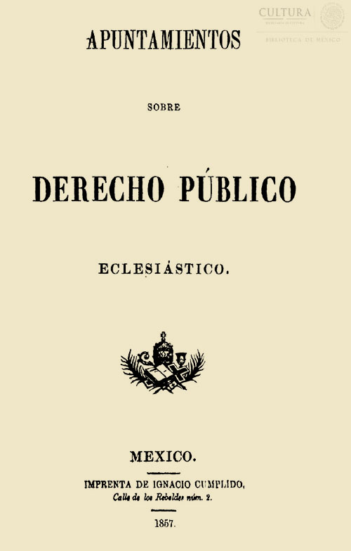 Imagen de Apuntamientos sobre Derecho Público Eclesiástico