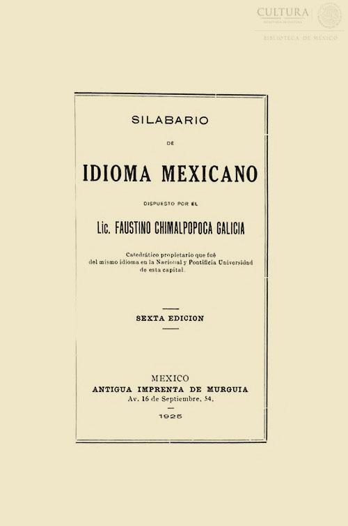 Imagen de Silabario de idioma mexicano