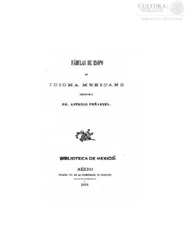 Imagen de Fábulas de Esopo en idioma mexicano
