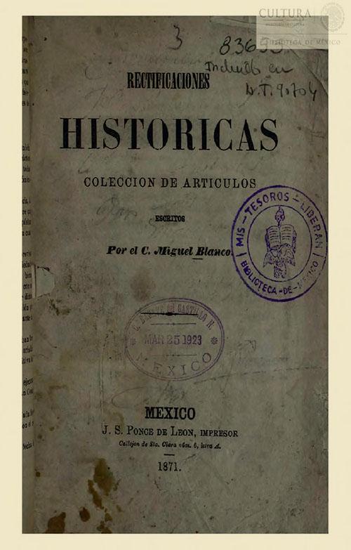 Imagen de Rectificaciones históricas