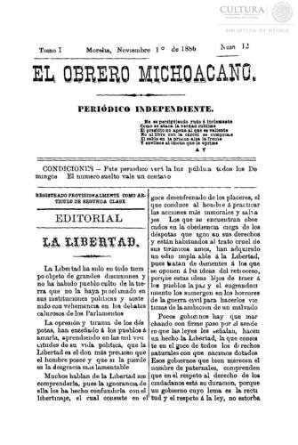 Imagen de El obrero michoacano. Periódico independiente, número 12
