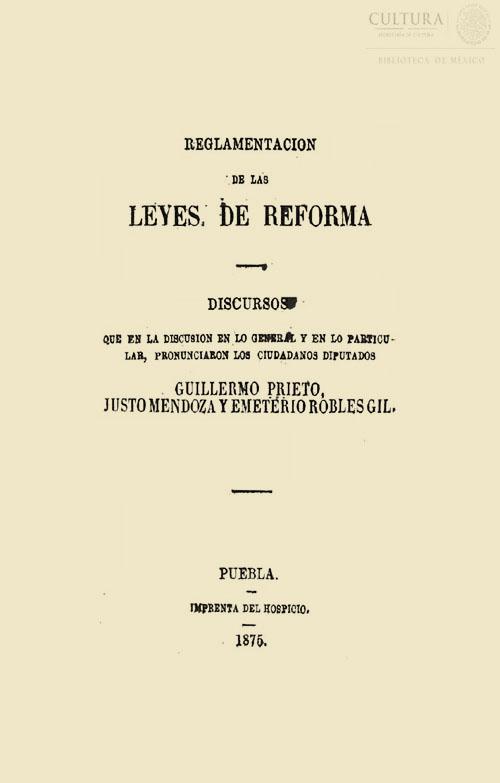 Imagen de Reglamentación a la Leyes de Reforma