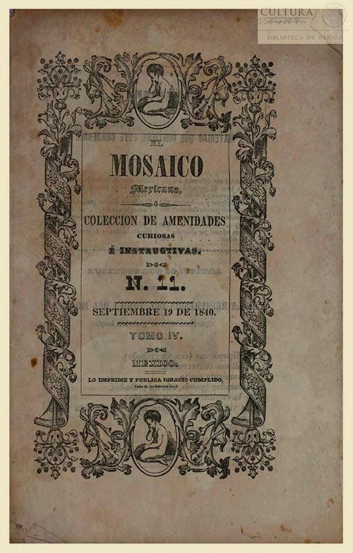 Imagen de El Mosaico mexicano o Colección de amenidades curiosas é instructivas. Numero 11