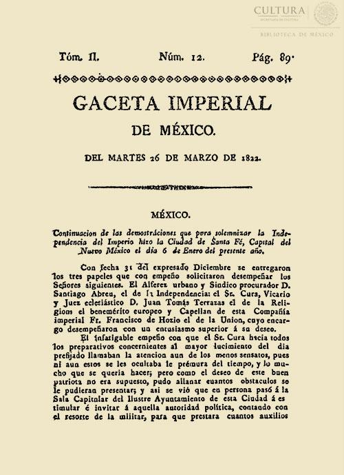 Imagen de Gaceta Imperial de México. Numero 12