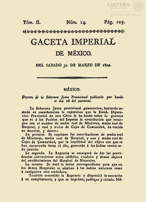 Imagen de Gaceta Imperial de México. Numero 14