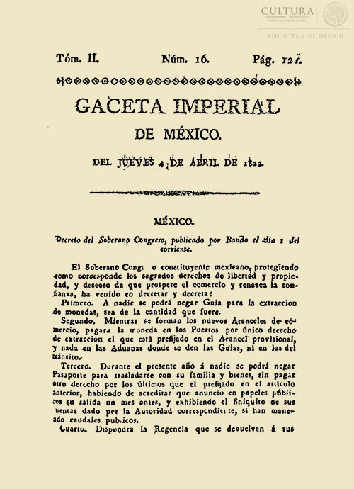 Imagen de Gaceta Imperial de México. Numero 16