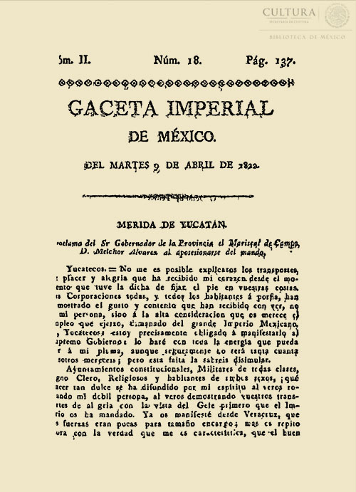 Imagen de Gaceta Imperial de México. Numero 18