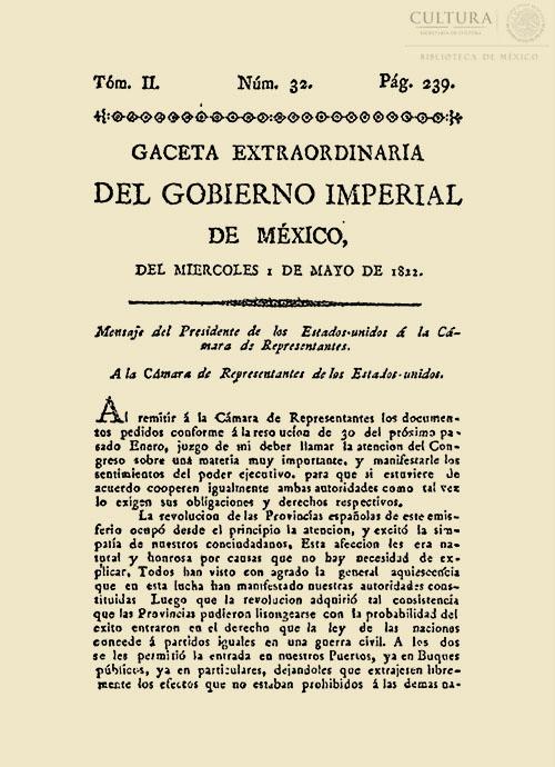 Imagen de Gaceta Imperial de México. Numero 32