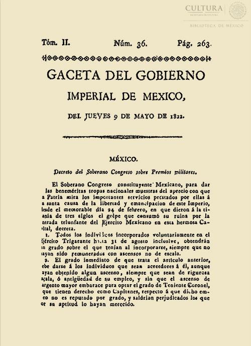 Imagen de Gaceta Imperial de México. Numero 36