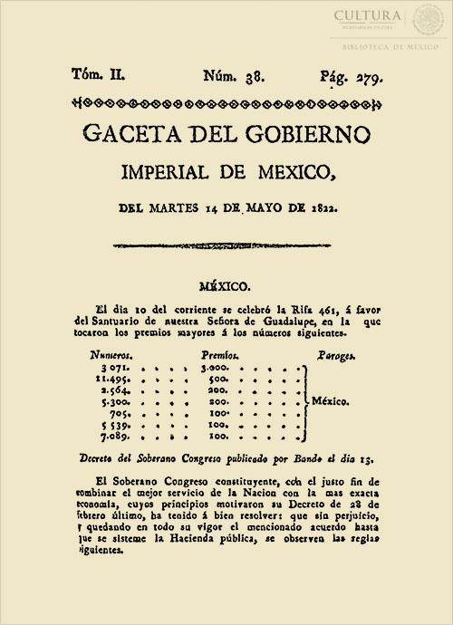 Imagen de Gaceta Imperial de México. Numero 38