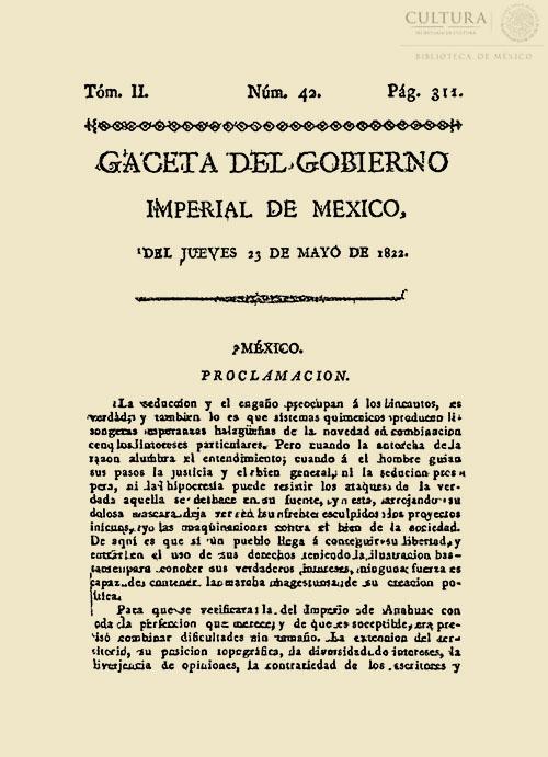 Imagen de Gaceta Imperial de México. Numero 42