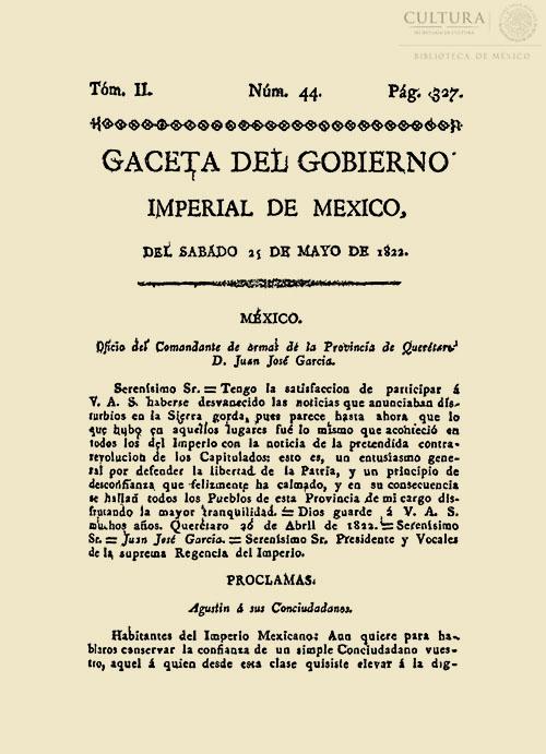 Imagen de Gaceta Imperial de México. Numero 44