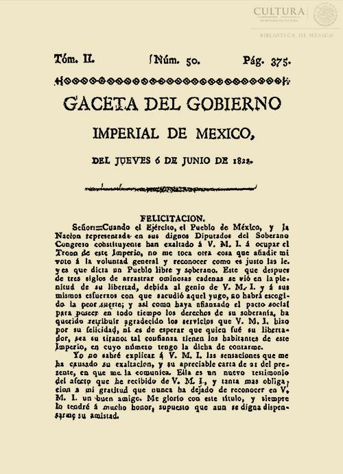 Imagen de Gaceta Imperial de México. Numero 50