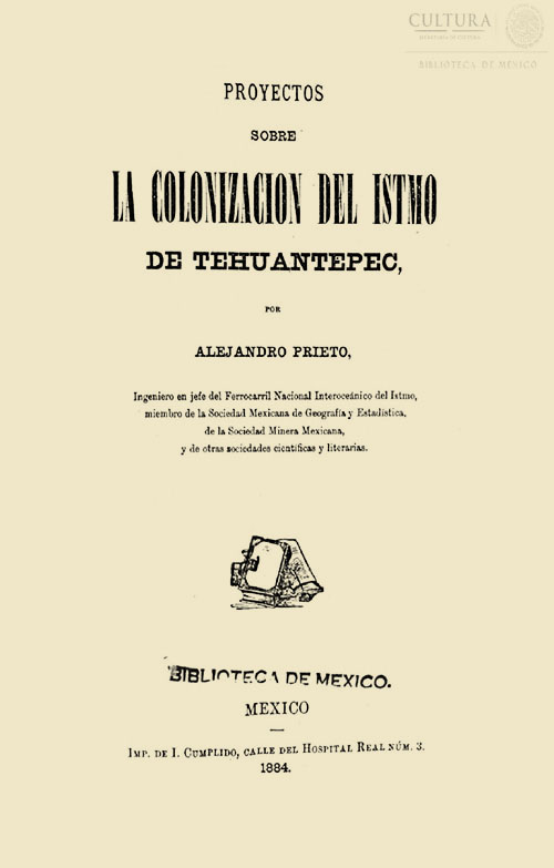 Imagen de Proyecto sobre la colonización del Istmo de Tehuantepec
