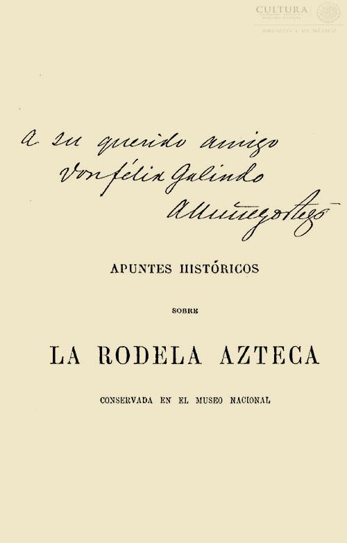 Imagen de Apuntes históricos sobre la Rodela Azteca conservada en el Museo Nacional de México A. Núñez Ortrega