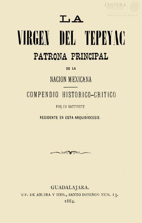 Imagen de La virgen del Tepeyac, patrona principal de la nación mexicana: compendio histórico-crítico