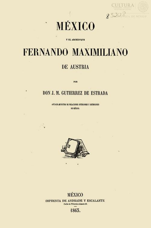 Imagen de México y el archiduque Fernando Maximiliano de Austria