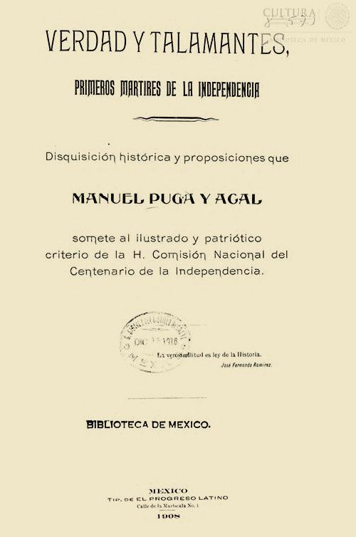 Imagen de Verdad y Talamantes : primeros martires de la independencia : disquisicion historica y proposiciones