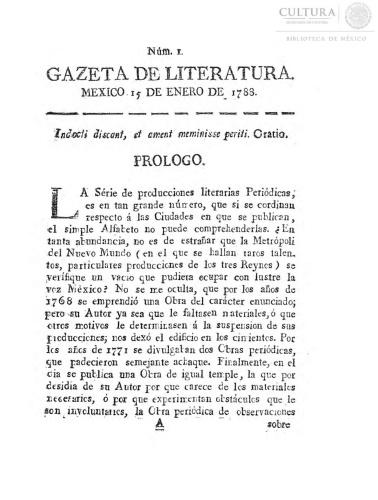 Imagen de Gazeta de literatura, número 1