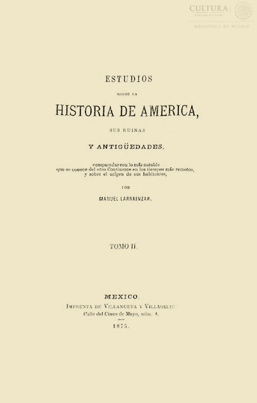 Imagen de Estudios sobre la historia de América: sus ruinas y antigüedades. Tomo 2