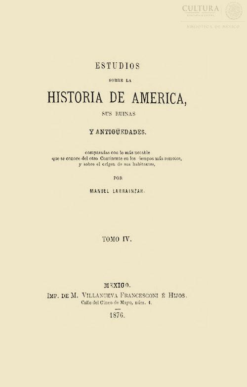 Imagen de Estudios sobre la historia de América: sus ruinas y antigüedades. Tomo 4