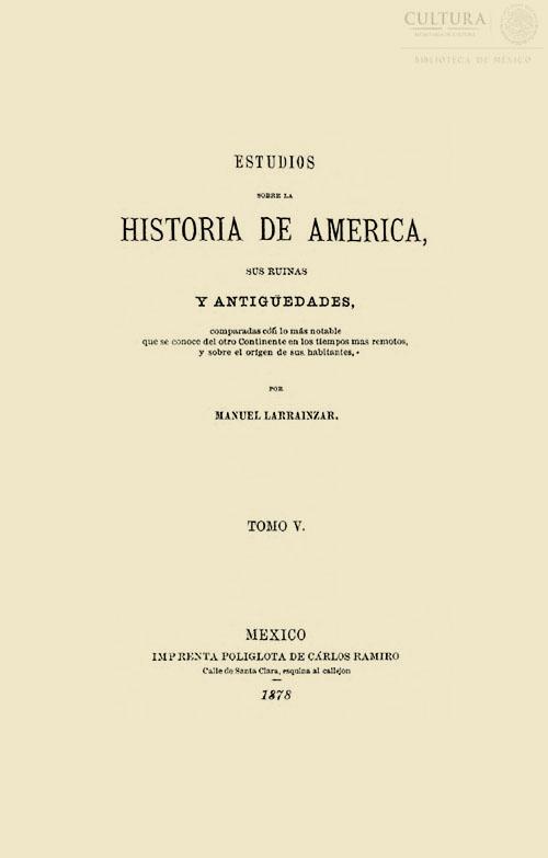 Imagen de Estudios sobre la historia de América: sus ruinas y antigüedades. Tomo 5
