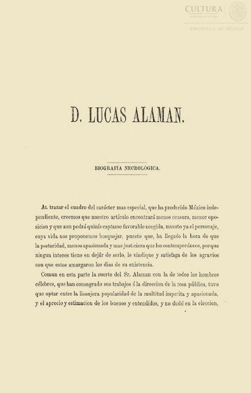 Imagen de Noticias Biográficas del exmo. Sr. Lucas Alemán; Biografía necrológica