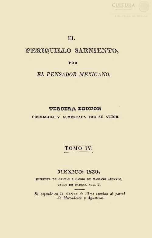 Imagen de El Periquillo Sarniento. Tomo 4