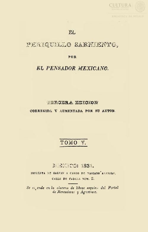 Imagen de El Periquillo Sarniento. Tomo 5