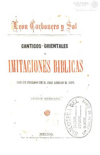 Imagen de Cánticos orientales e imitaciones bíblicas