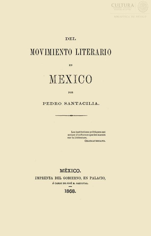 Imagen de Del Movimiento Literario en México