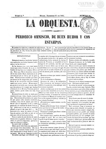 Imagen de LaOrquesta:Periódico omniscio, de buen humor y con caricaturas. Número 31