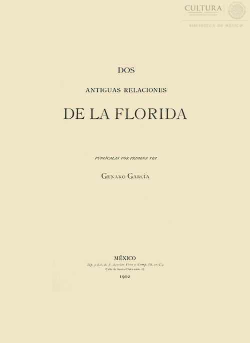 Imagen de Dos antiguas relaciones de la Florida