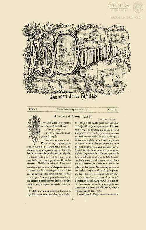 Imagen de El Domingo: Semanario de las familias. Número 11