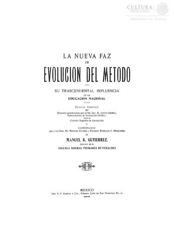 Imagen de La nueva faz de evolución de evolución del método