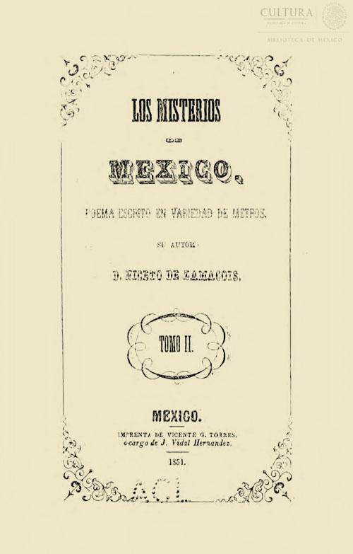 Imagen de Los misterios de México: poema escrito en variedad de metros