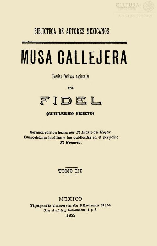 Imagen de Musa callejera: poesías festivas nacionales / Tomo 3