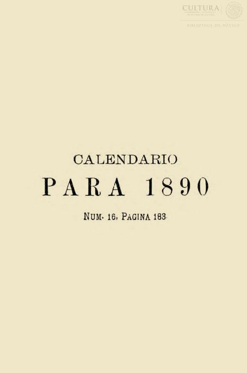 Imagen de Calendario para 1890 y los años siguientes hasta el 2,200 con el santoral del de Galván