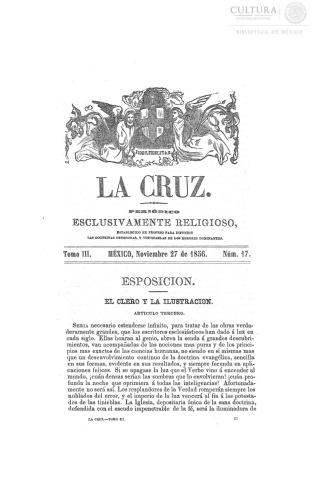 Imagen de La Cruz, periódico exclusivamente religioso, número 57