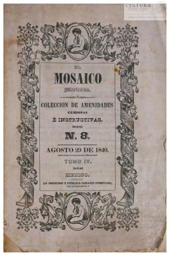 Imagen de El Mosaico mexicano o Colección de amenidades curiosas é instructivas. Tomo 8