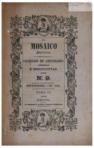 Imagen de El Mosaico mexicano o Colección de amenidades curiosas é instructivas. Tomo 9