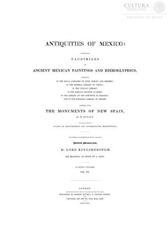 Imagen de Antiquities of Mexico, Tomo 7